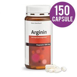 Arginina capsule 500mg