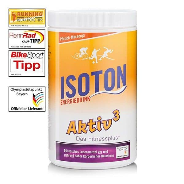 Isoton Energie Drink 900g - aroma piersica si fructul pasiunii